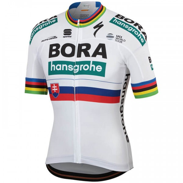 2019 BORA-hansgrohe Slovakian Champion Short Sleeve Jersey - Professional Cycling Team