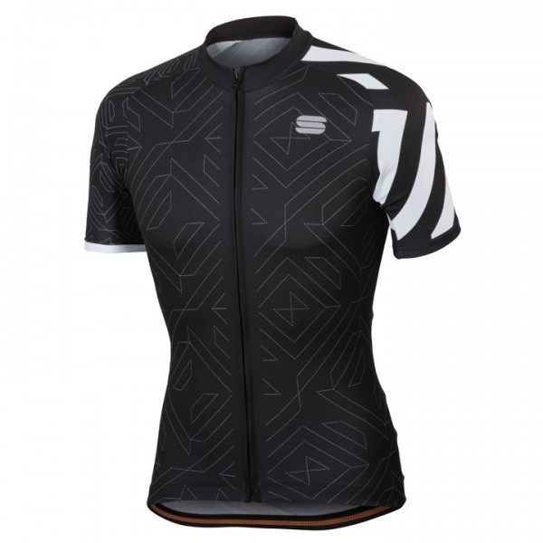 SPORTFUL Prizm Short Sleeve Jersey white - black For Men