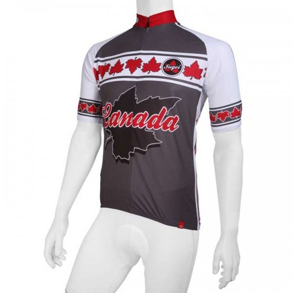 Sugoi jersey Canada grey-white-red For Men