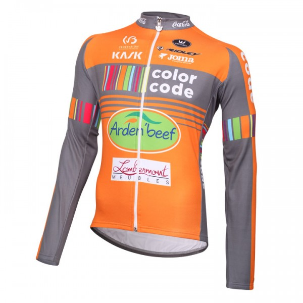 2016 COLOR-CODE AQUALITY PROTECTCOL Long Sleeve Jersey - Professional Cycling Team