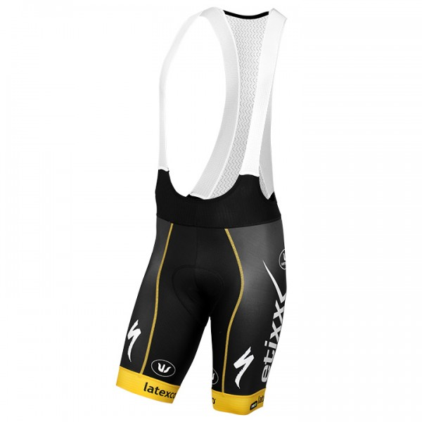 2016 ETIXX-QUICK STEP Bib Shorts PRR TDF Edition yellow - Professional Cycling Team