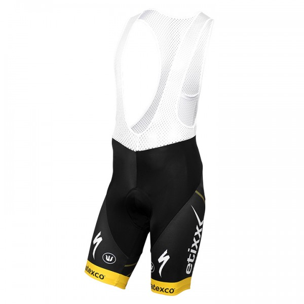 2016 ETIXX-QUICK STEP Bib Shorts TDF Edition yellow - Professional Cycling Team