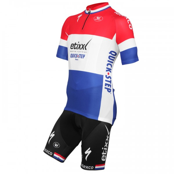 2015-2016 ETIXX-QUICK STEP Dutch Champion Set (2 pieces) - Professional Cycling Team