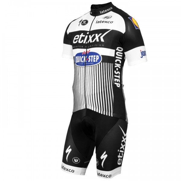 ETIXX-QUICK STEP LTD Edition weiß-schwarz Set (2 pieces) - Professional Cycling Team