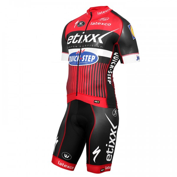 2016 ETIXX-QUICK STEP PRR LTD Edition rot Set (2 pieces) - Professional Cycling Team