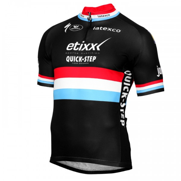 2016-2017 ETIXX-QUICK STEP short sleeve jersey Luxembourgian Champion - Professional Cycling Team