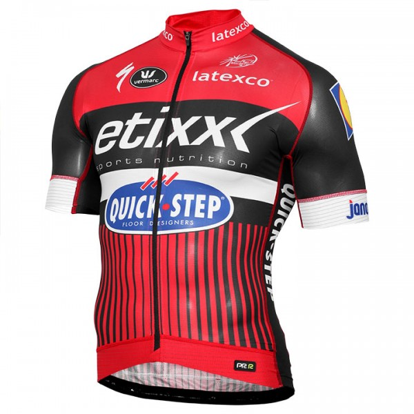 2016 ETIXX-QUICK STEP Short Sleeve Jersey PRR LTD Edition red - Professional Cycling Team