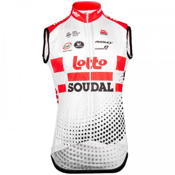 2019 LOTTO SOUDAL Wind Vest - Professional Cycling Team