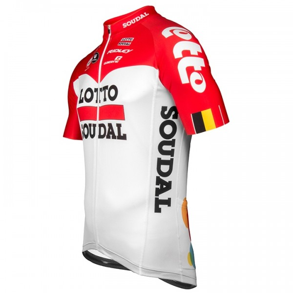2018 Lotto Soudal Aero Short Sleeve Jersey - Professional Cycling Team