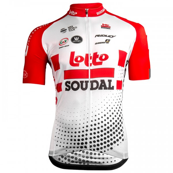 2019 Lotto Soudal Aero Short Sleeve Jersey - Professional Cycling Team