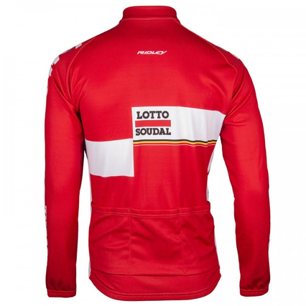 2017 LOTTO SOUDAL Long Sleeve Jersey - Professional Cycling Team