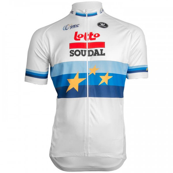 2019 LOTTO SOUDAL Short Sleeve Jersey European Champion - Professional Cycling Team