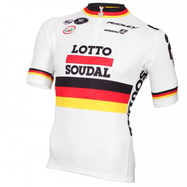 2015 LOTTO SOUDAL Short Sleeve Jersey German Champion - Professional Cycling Team