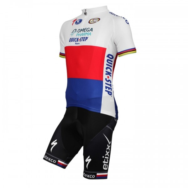 2014-2015 OMEGA PHARMA-QUICK STEP Czech Champion Set (2 pieces) - Professional Cycling Team